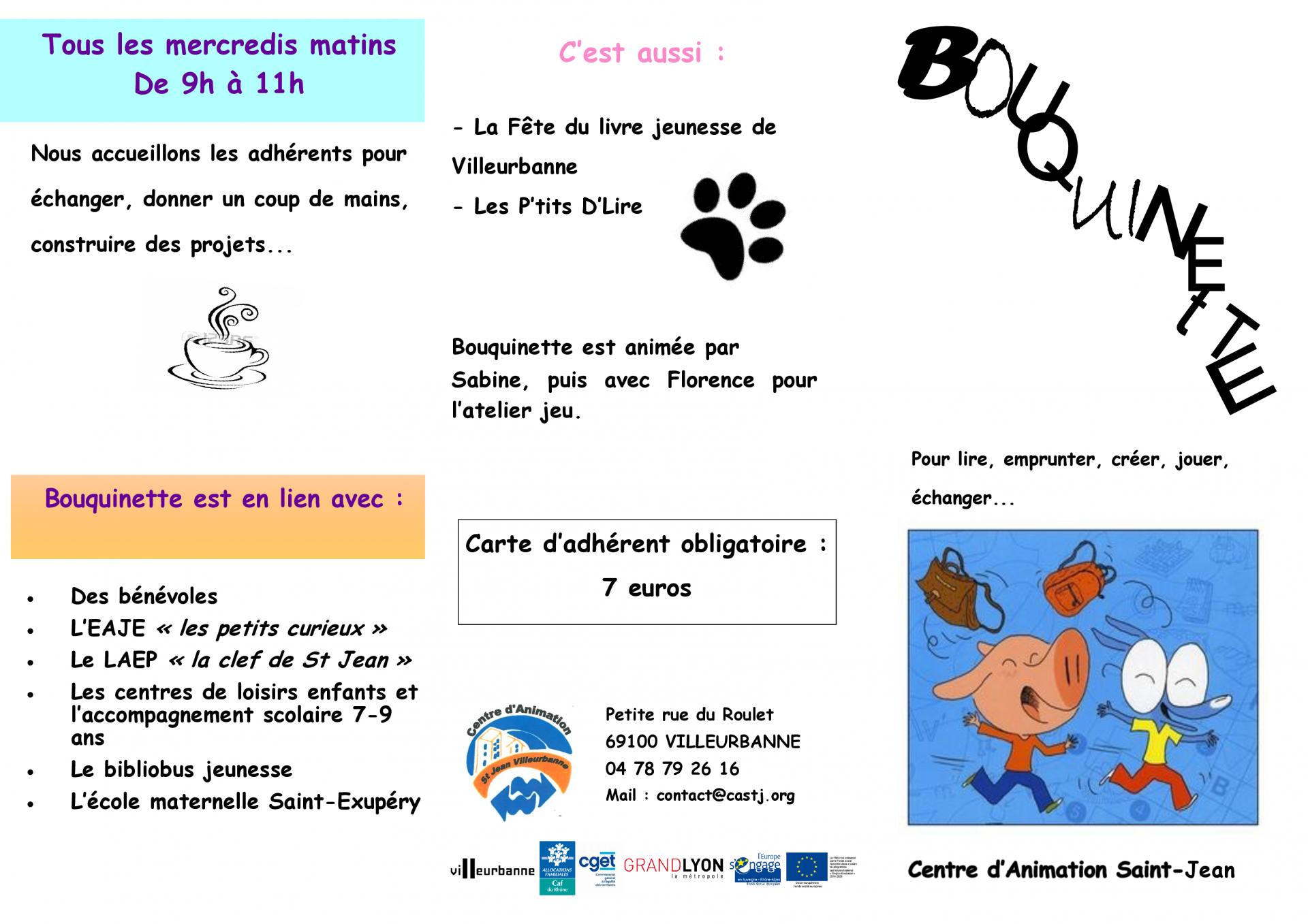 plaquette bouquinette 2019 - 2020