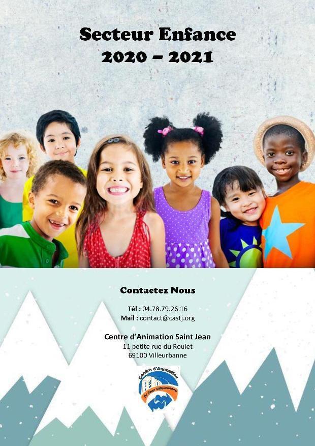 Plaquette secteur enfance 2020 2021