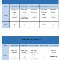 programme U15