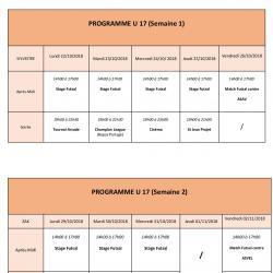 Programme U17