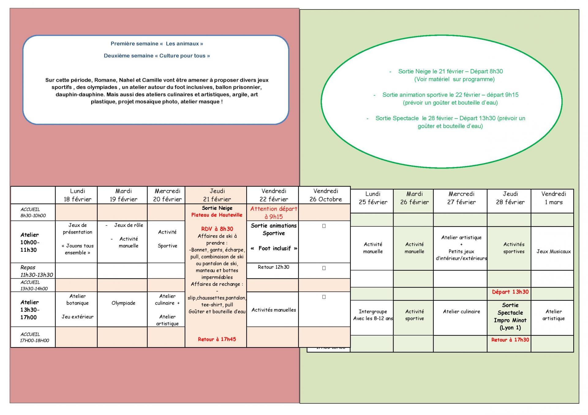 Programme 6 - 8 ans